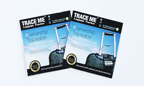 TRACE ME Smart ID luggage tracker tag (Twin Packs)