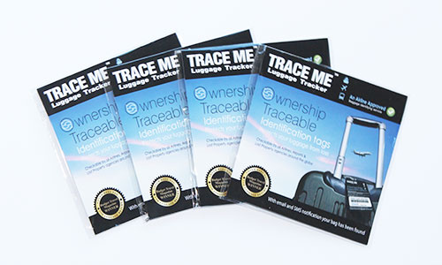 TRACE ME Smart ID luggage tracker tag (Four Packs)