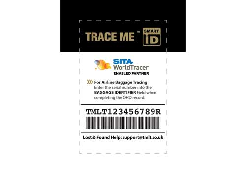 TRACE ME Self-Print Smart ID luggage tracker tag